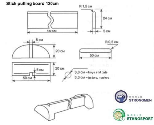 stick pulling board 120cm
